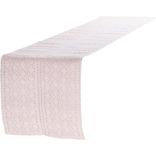 """Linen & More Tischläufer »Tischläufer """"Mirthe"""" L140 x B30 cm«, rosa"""
