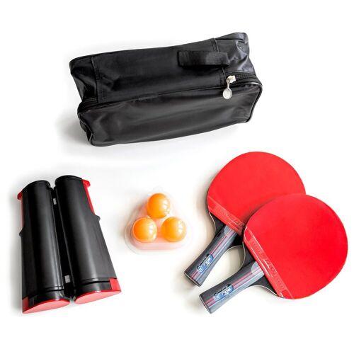 PRECORN Tischtennisschläger »2 x Tischtennisschläger + Tischtennisbälle + Tragetasche + ausziehbares Tischtennisnetz Tischtennis-Set« (Set)