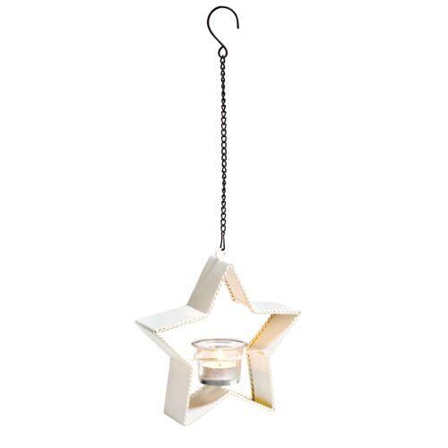 VBS Windlicht »Stern«, inkl. Teelichtglas, 19 cm x 18,5 cm