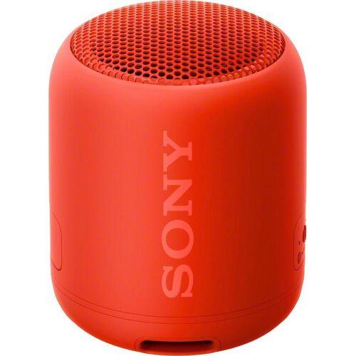Sony SRS-XB12 Bluetooth-Lautsprecher (Bluetooth, NFC), rot