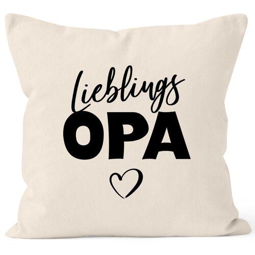 MoonWorks Dekokissen »Kissen-Bezug Lieblings-Opa Kissen-Hülle Deko-Kissen Geschenk ®«, natur