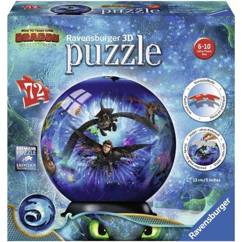 Ravensburger Puzzleball »Dragons 3«, 72 Puzzleteile