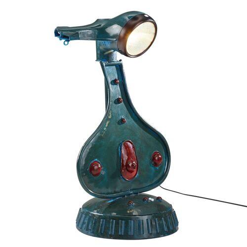 FINEBUY Stehlampe, Tischlampe 72 cm Metall Design Stehlampe Vintage Style Roller-Retro Nachttischleuchte modern Industrial Lampe E27 Fassung Tischleuchte Shabby Wohnzimmerlampe rund