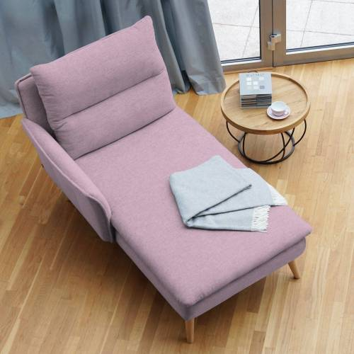 PLACE TO BE. Recamiere, Recamiere Ottomane Chaiselongue Sitzbank Polsterbank Tagesbett Daybed mit Armlehne links, Rosa
