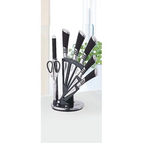 ZELLERFELD Messer-Set »Trendmax 8-teiliges Profi Messer-Set Messerblock sehr hochwertiges SelbstschärfenMesser Küchenmesser Set Kochmesser«, Schwarz