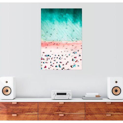 Posterlounge Wandbild, Bunte Sonnenschirme am Bondi Beach, Australien