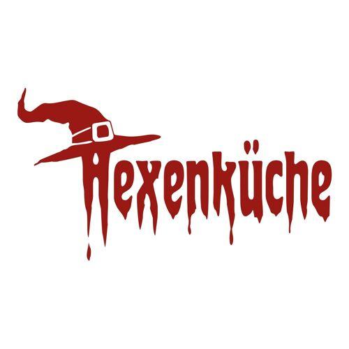 dekodino Wandtattoo »Hexenküche mit Hut« (1 Stück), 67 - dark red