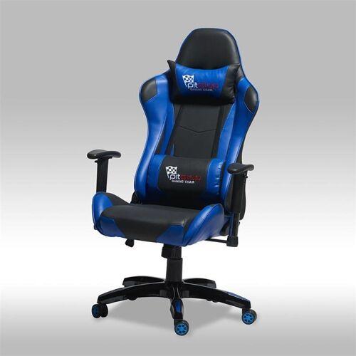 ebuy24 Gaming Chair »Gamer Stuhl Wild und Bürostuhl in blauen und schwa«