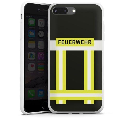 DeinDesign Handyhülle »Feuerwehr« Apple iPhone 7 Plus, Hülle Feuerwehr Feuerwehrmann Beruf, weiß