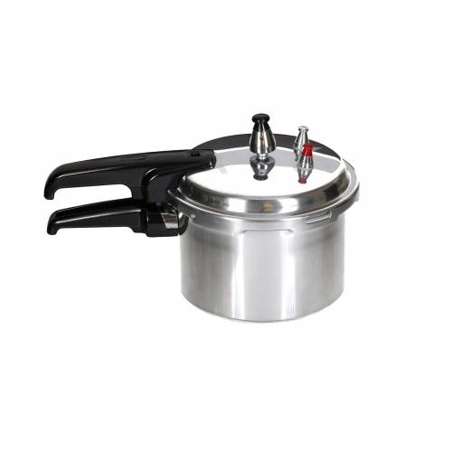 dynamic24 Schnellkochtopf, Aluminium, (1-tlg), Kochtopf Dampfkocher Schnellkocher poliert