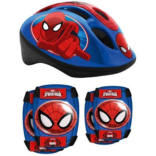 STAMP Kinderfahrradhelm »Spiderman Helm & Ellbogen- Knieschützer«