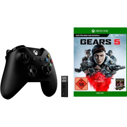 Xbox One »Wireless« Controller (inkl. Wireless Adapter und Gears 5), schwarz