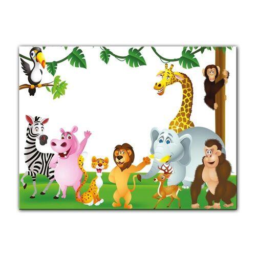 Bilderdepot24 Leinwandbild, Leinwandbild - Kinderbild - Tiere Cartoon III