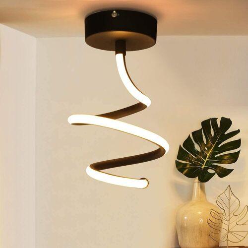 ZMH LED Deckenleuchte »Deckenlampe flur aus Metall in Schwarz 14W Innen warmweiß für Wohnzimmer, Schlafzimmer, Küche, Flur«