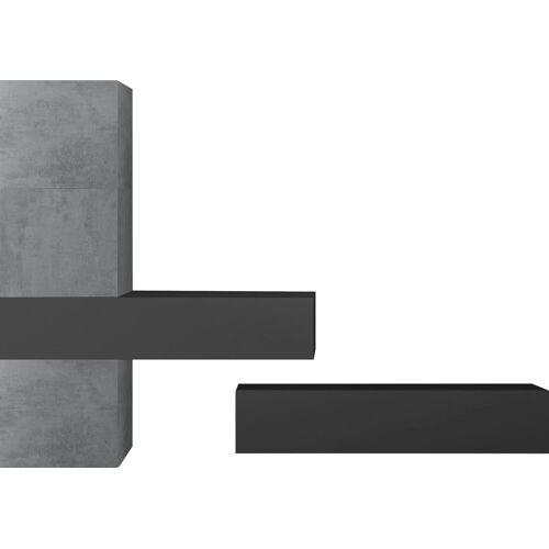 LC Wohnwand »Infinity«, (Set, 5-tlg), Beton-Optik / Anthrazit