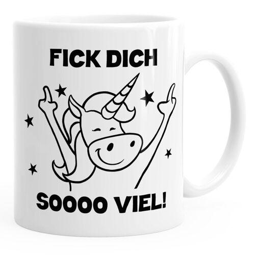 MoonWorks Tasse »Fick dich so viel Einhorn Kaffee-Tasse ®«