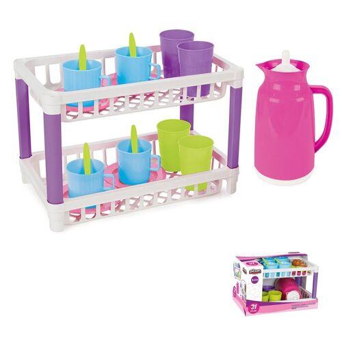 Pilsan Spielgeschirr »Spielzeug Küchenregal mit 17-tlg. Spielzeuggeschirr 03336«, zwei Ebenen