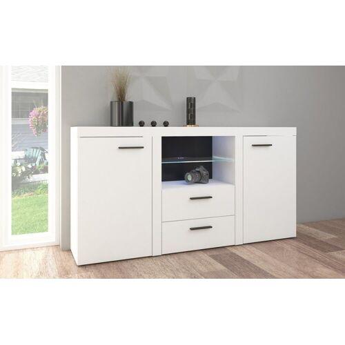 Küchen-Preisbombe Wohnwand »TOP Kommode Sideboard Rumba Wohnwand Wohnzimmer Anbauwand Weiss matt«, (1-tlg)