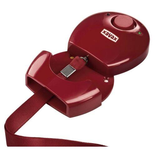 Hama »Personen-Alarm Rot Hand-Alarm Alarmanlage Notfall-Alarm Panik Schutz-Alarm Einbrecher« Alarmsirene (einfache Installation, LED-Außenleuchte, Stift-Mechanismus)