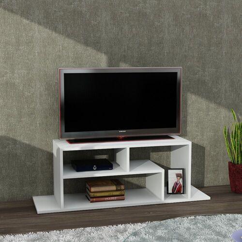 moebel17 TV-Regal »TV Lowboard Fagus Weiß«, Platzsparend