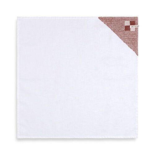 Knit Factory Geschirrtuch »Geschirrtuch Block Ecru/Rost«, (Handtuch)