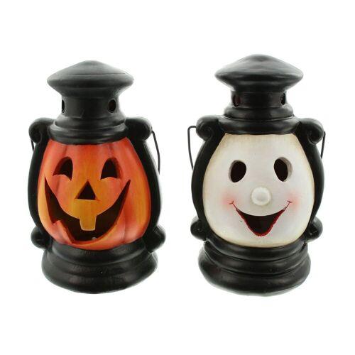 "HomeLiving LED Dekoobjekt »LED-Laterne ""Halloween"", 2er Set Herbst Leuchte«"