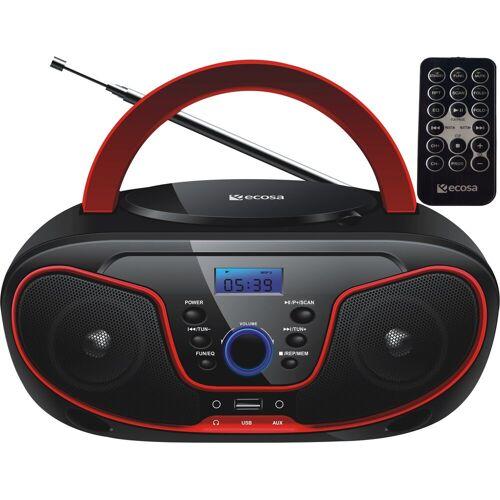 ecosa »EO-2100« tragbarer CD-Player (CD-Player, Tragbarer CD-Player, FM Radio mit MP3 USB, Fernbedienung)