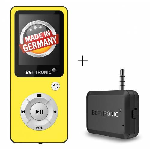 BERTRONIC »Royal BC04« MP3-Player (64 GB Speicherkarte, Made in Germany, Audio-Player mit Bluetooth Adapter), Gelb