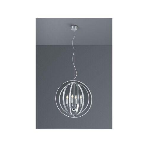 TRIO LED Kronleuchter, Lüster Kristall-Lampe Kugel-Leuchte silber Esszimmerleuchte für über Esstisch, Schlafzimmer, große Wohnzimmer-Lampe Couchtisch rund, Silber