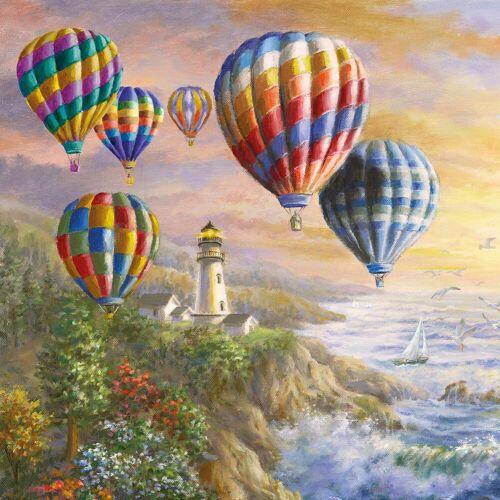Ambiente Papierserviette »Heißluftballons«, 33 cm x 33 cm