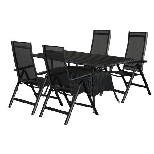 ebuy24 Essgruppe »Canny Gartenmöbel Set 1 Tisch und 4 Stühle.«