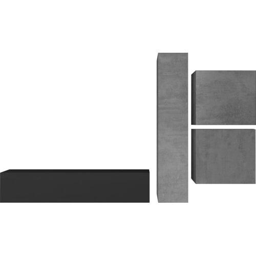 LC Wohnwand »Infinity«, (Set, 4-tlg), Beton-Optik / Anthrazit