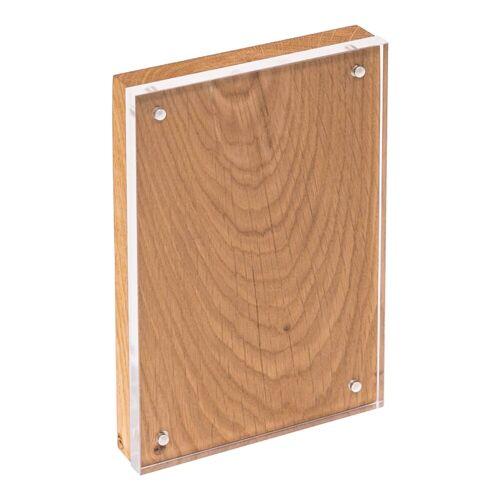 HMF Bilderrahmen »BRM 469«, für 1 Bilder, magnetisch, aus Acrylglas und Holz, 10 x 15 cm, Natur