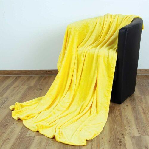 """Bestlivings Wohndecke, , Kuscheldecke """"Celina"""" - Gelb - 60x80 cm (BxL) - hochwertige Flauschige Kuschel Decke in vielen Farben und Größen, Gelb"""
