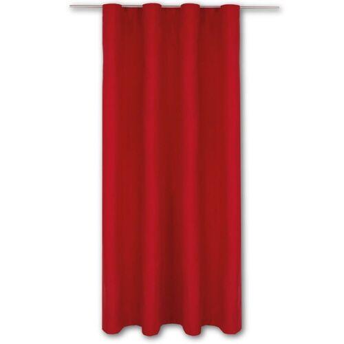 Bestlivings Vorhang, , Kräuselband (1 Stück), Thermogardine, blickdicht 140x245cm, hitzeabweisend und wärmeisolierend, Rot