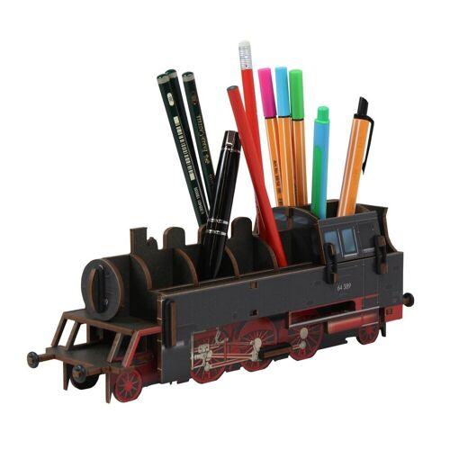 WERKHAUS® Schreibtischaufsatz »Werkhaus - Stiftebox Dampflok BR64 Schwarz WE2093 Lok Zug Stifte«