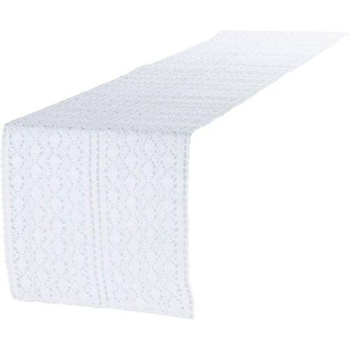 """Linen & More Tischläufer »Tischläufer """"Mirthe"""" L140 x B30 cm«, weiß"""