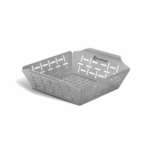 BURNHARD Grillplatte »Gemüsekorb«, Edelstahl, Grillkorb 23,5x19x5,5 cm