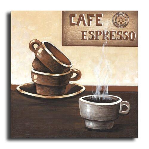 Bilderdepot24 Leinwandbild, Wandbild - Kaffee M4 - Leinwandbild 30x30 cm M08