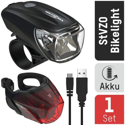 Ansmann Fahrradbeleuchtung »Fahrradlicht Set Akku StVZO zugelassen, Front- und Rücklicht«