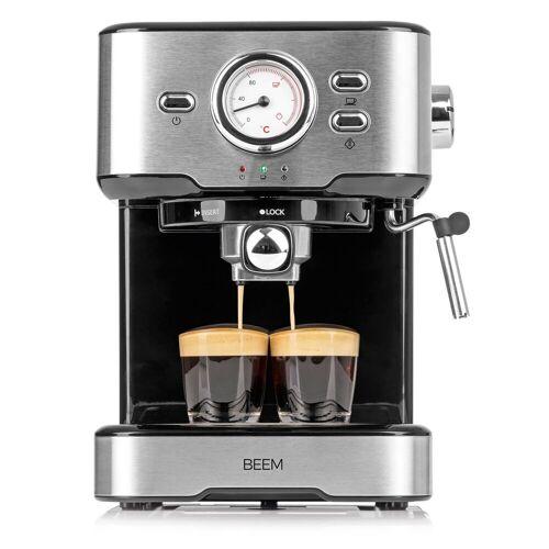 BEEM Espressomaschine, 1.5l Kaffeekanne, Siebträger, ESPRESSO-SELECT Siebträgermaschine 15 bar