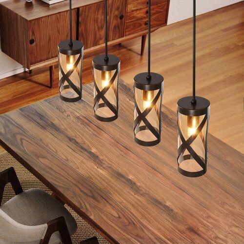 ZMH Pendelleuchte »E14 Esstischlampe aus Glas und Eisen«