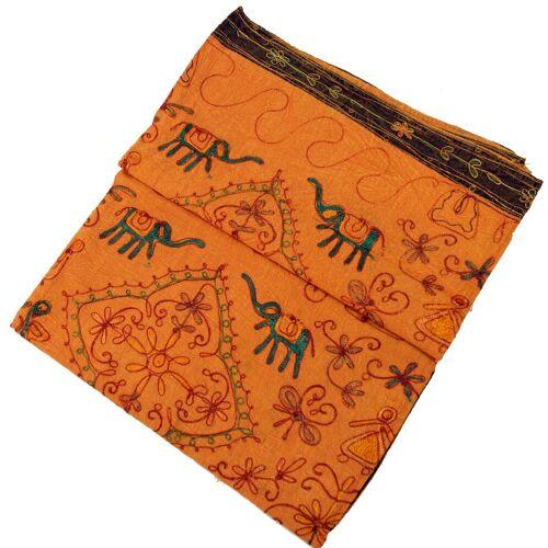Guru-Shop Tagesdecke »Bestickte indische Tagesdecke, besticktes..«, , orange