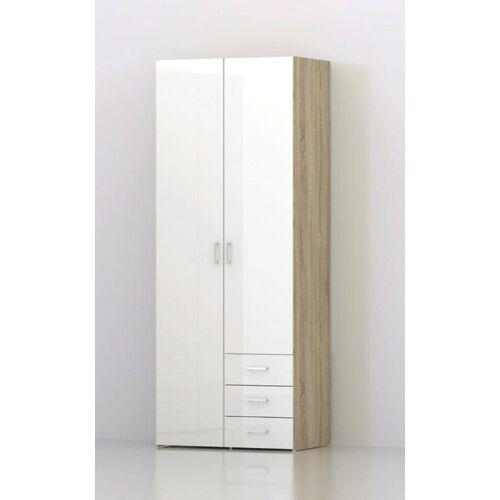 ebuy24 Kleiderschrank »Spell Kleiderschrank 2 Türen und 3 Schubladen. Eic«