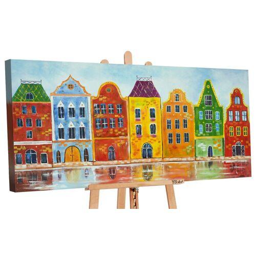 ART YS-Art Gemälde »Traum Stadt II 144«