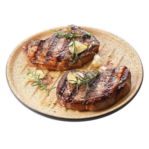 RÖMERTOPF Grillplatte »Lafer BBQ Plancha mit Grillstegen 32 cm«, Keramik