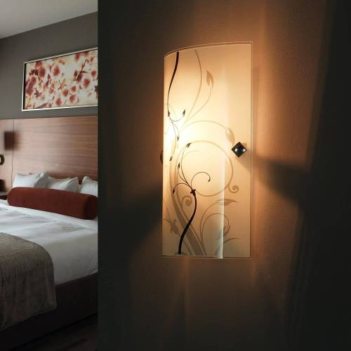 Licht-Erlebnisse Wandleuchte »ELINA Moderne Wandlampe Glas eckig E27 Flurlampe Lampe«