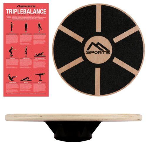 MSports® Stabilisations-Therapiegerät »Balance Board aus Holz 39 cm Durchmesser Wackelbrett Therapiekreisel Physiotherapie«