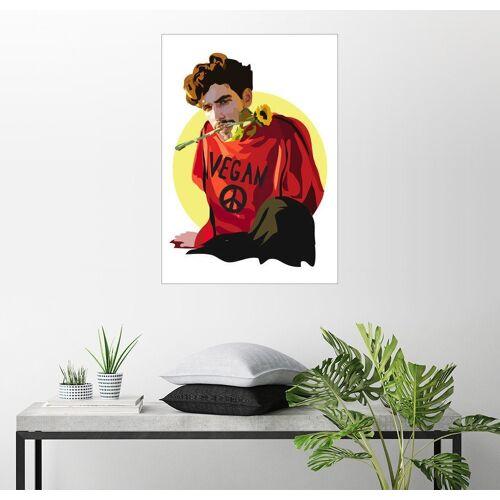 Posterlounge Wandbild, Premium-Poster Vegan Dude