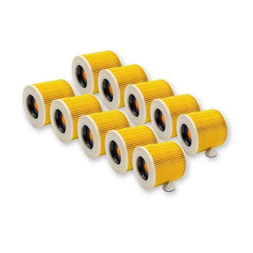 AccuCell Staubsaugerrohr 10x Staubsaugerfilter für Staubsauger wie 6.414-54